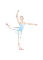 バレエのアティテュードのポーズをとる女性 02697000092| 写真素材・ストックフォト・画像・イラスト素材|アマナイメージズ