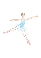 水色のレオタードを着てバレエのレッスンをする女性 02697000093| 写真素材・ストックフォト・画像・イラスト素材|アマナイメージズ