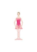 ピンクのレオタードを着てバレエのレッスンをする女性 02697000094| 写真素材・ストックフォト・画像・イラスト素材|アマナイメージズ
