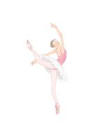 ピンク色のレオタードを着てバレエのレッスンをする女性 02697000097| 写真素材・ストックフォト・画像・イラスト素材|アマナイメージズ