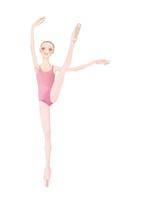 ピンクのレオタードを着てバレエのレッスンをする少女 02697000104| 写真素材・ストックフォト・画像・イラスト素材|アマナイメージズ