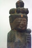 大平観音堂の円空仏 木造十一面観音立像