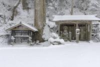 雪の比叡山延暦寺 弁慶水と地蔵堂