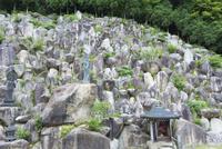 観音正寺石積み庭園と観音立像