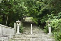 長命寺808段の石段
