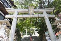 竹生島神社鳥居と宝厳寺参道