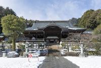 雪の近江神宮外拝殿 02698000291  写真素材・ストックフォト・画像・イラスト素材 アマナイメージズ