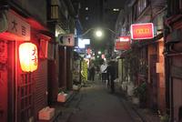 夜の新宿ゴールデン街 02701012207| 写真素材・ストックフォト・画像・イラスト素材|アマナイメージズ