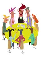 会議中の人々