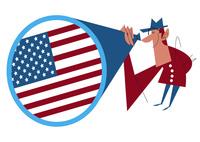 アメリカを考える男性