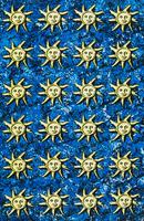 太陽をモチーフにしたテキスタイル 02724000285| 写真素材・ストックフォト・画像・イラスト素材|アマナイメージズ