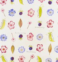花柄のテキスタイル