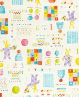 ウサギのいる子供向けテキスタイル 02724000294| 写真素材・ストックフォト・画像・イラスト素材|アマナイメージズ
