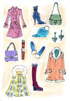 女性の冬物ファッション 02736000022  写真素材・ストックフォト・画像・イラスト素材 アマナイメージズ