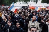 2012年フランス大統領選挙バスティーユ広場 02738000373| 写真素材・ストックフォト・画像・イラスト素材|アマナイメージズ