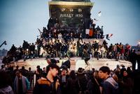 2012年フランス大統領選挙バスティーユ広場 02738000379| 写真素材・ストックフォト・画像・イラスト素材|アマナイメージズ
