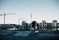 スウェーデンの建設中マンション