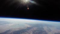 関西上空から見た宇宙 風船を使った撮影装置(スペースバルーン)で撮影した琵琶湖上空36km 成層圏からの景色 02740000061| 写真素材・ストックフォト・画像・イラスト素材|アマナイメージズ