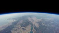 関西上空から見た宇宙 風船を使った撮影装置(スペースバルーン)で撮影した琵琶湖上空38km 成層圏からの景色 02740000063| 写真素材・ストックフォト・画像・イラスト素材|アマナイメージズ