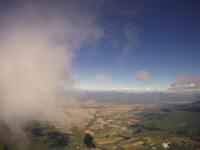雲の高さから撮影した倶知安町