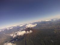 上空から撮影したニセコ町 太陽で輝く 02740000077| 写真素材・ストックフォト・画像・イラスト素材|アマナイメージズ