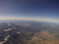 ニセコ上空から日本海方向を空撮 岩内・余市が写る