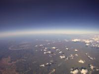 ニセコ上空から日本海方向を空撮 岩内・余市が写る 02740000083| 写真素材・ストックフォト・画像・イラスト素材|アマナイメージズ