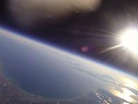 成層圏から見た太平洋 北海道上空から青森・下北半島までを撮影