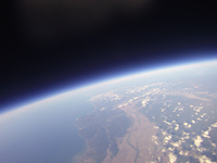 札幌上空から北海道北部を撮影 高高度バルーン空撮