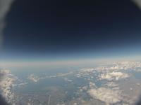日本海に流れ込む石狩川 札幌上空からの空撮