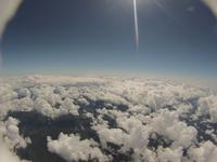 眼下一面に広がる積雲の海 高高度気球の捉えた空の景色