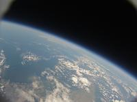 北海道上空から見た北海道北部 成層圏からバルーンにより撮影 風船宇宙撮影