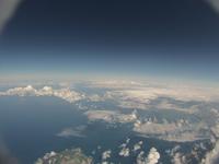 札幌市銭函近辺を高高度から見下ろす