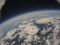札幌市上空から北海道南部を高高度から見下ろす 風船宇宙撮影