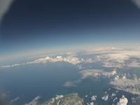 小樽水族館近辺を雲の上から空撮 バルーンによる撮影 眼下に見えるは太平洋
