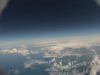日本海にかかる雲 高高度より撮影