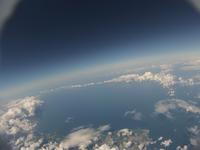 北海道 夏の日本海にかかる雲を雲の上から 穏やかな空
