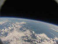 風船で撮影した地球と宇宙 襟裳岬方面を撮影 ふうせん宇宙撮影
