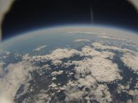 空の上から見た地球 北海道南部方向