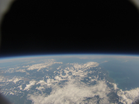空の上から見た地球 札幌上空