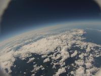 高高度から見た雲海 バルーン空撮