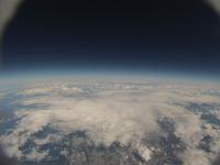 札幌市北部日本海側海岸線を飛行機と同高度から空撮