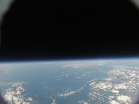 水平線の先に見えるはユーラシア 高高度気球による成層圏からの撮影