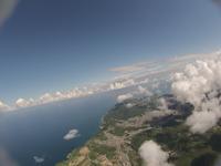 雲の合間から見下ろす町並み