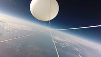 風船と宇宙 成層圏を舞うバルーン 02740000261| 写真素材・ストックフォト・画像・イラスト素材|アマナイメージズ