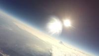 成層圏で輝く太陽 スペースバルーンから
