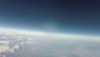 関東上空成層圏から撮影した地球と宇宙の狭間