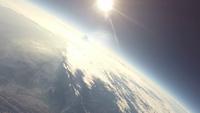 東京上空から見た宇宙と地球