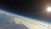 風船を使った宇宙撮影 関東平野にて 02740000278| 写真素材・ストックフォト・画像・イラスト素材|アマナイメージズ