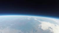 東京上空から見た地球と宇宙の境界 地球の輪郭